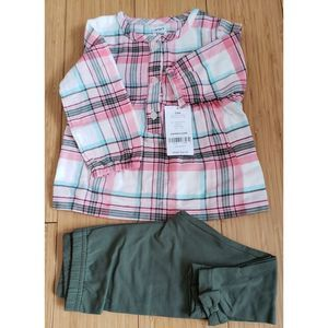 Carters baby girl's two piece set